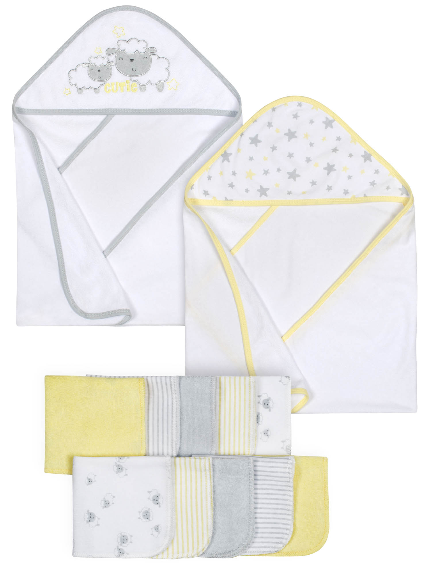 Gerber Baby Hooded Towels & Washcloth Set, 12pc by Gerber