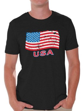 c7675edfcc Product Image Awkward Styles Men s Distressed USA Flag Graphic T-shirt Tops  USA Independence Day 4th Of