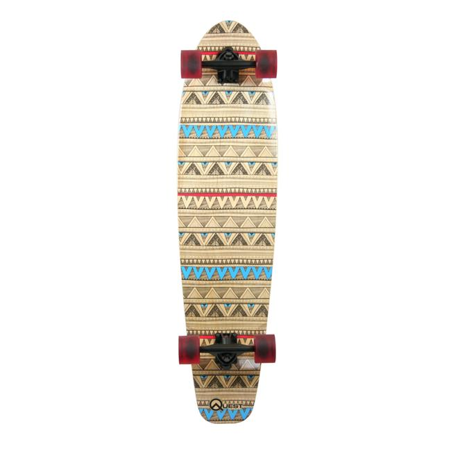 Made In Mars QT-GNK40C 40 in. Product Titlequest Native Spirit Kick Tail Longboard Skateboard by Made in Mars