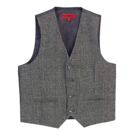 Gioberti Boy's Plaid Formal Suit Vest