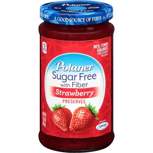 Polaner Strawberry Sugar Free Preserves with Fiber, 13.5 oz