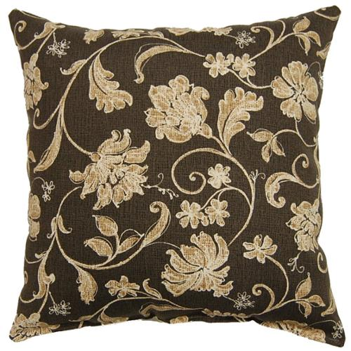 Fox Hill Trading Lindo Charcoal 17-inch Indoor/Outdoor Throw Pillows (Set of 2)