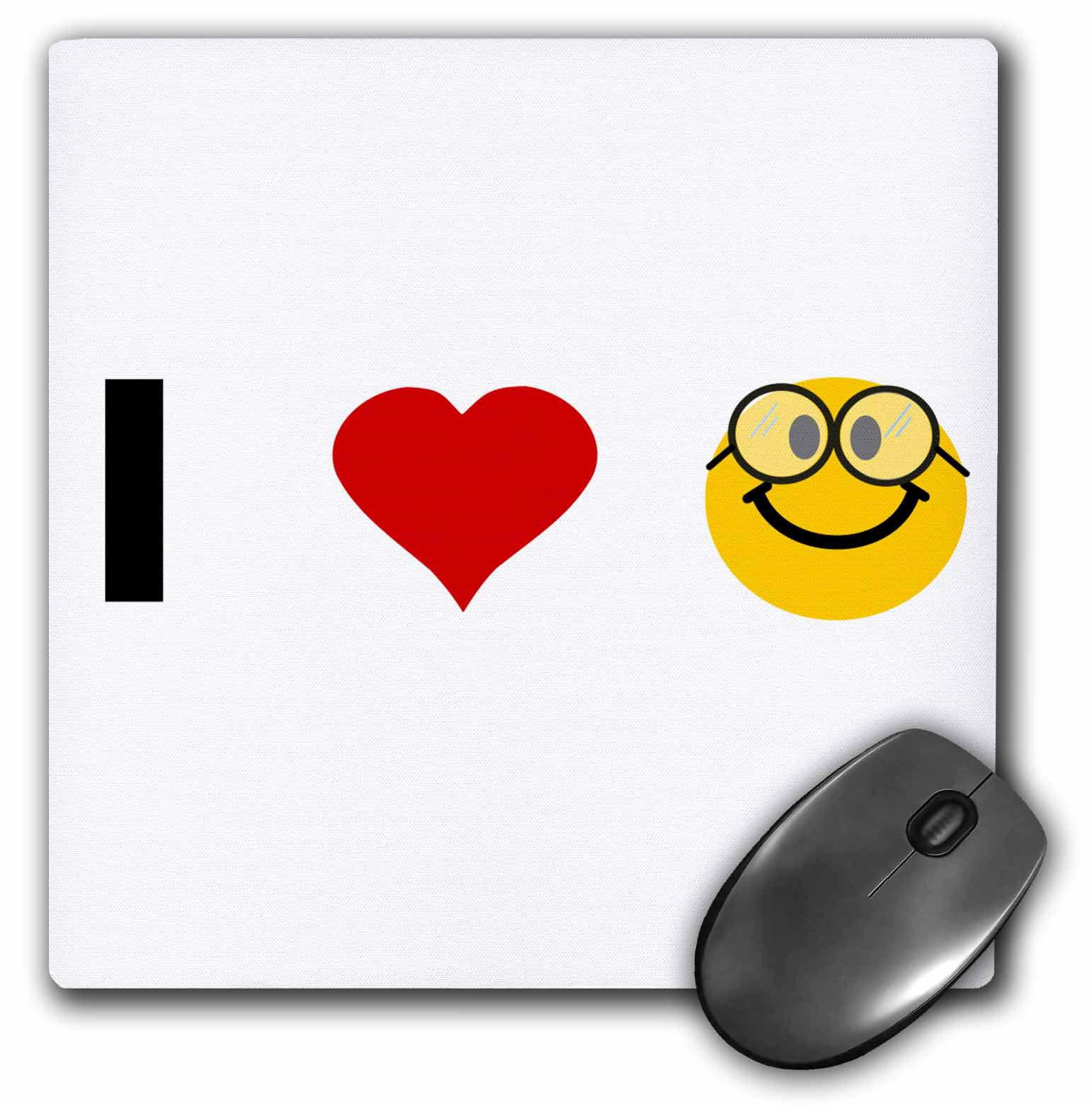 3drose i love heart geeks cute geeky nerdy smiley face