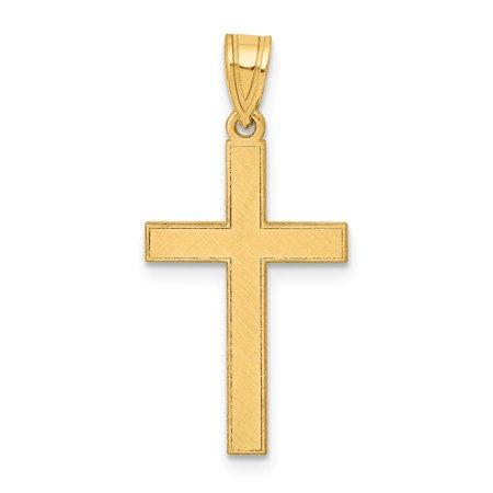 14k Yellow Gold Florentine Cross Pendant