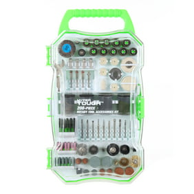 Hyper Tough 208-Piece Rotary Tool Accessory Kit with Storage Case