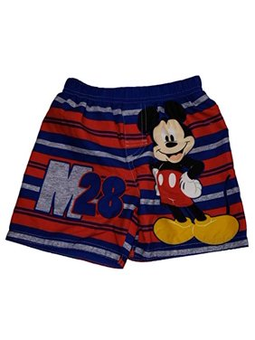 Toddler Boys Disney Mickey Mouse M28 Blue Swim Short Trunk - 5T