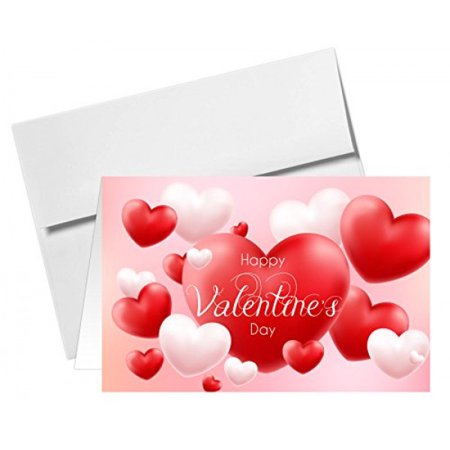 Valentines Day Greeting Cards   Envelopes   Pack Of 25  5 X 7