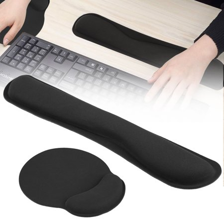 EEEkit Memory Foam Keyboard Wrist Rest Pad & Mouse Wrist Rest Support Pad, Comfortable & Durable,Non-Slip, Lightweight, for Offices & Homes, Computers, laptops, Macs,Easy Typing& Fatigue Relieved Memory Foam Keyboard Rest