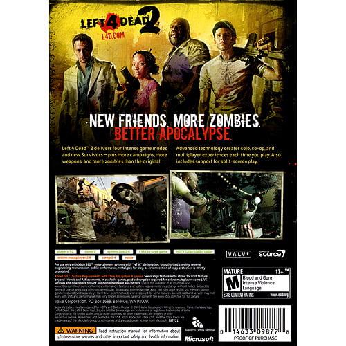 Left 4 Dead 2 (Xbox 360) Valve - Walmart com