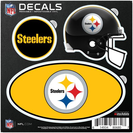 Pittsburgh Steelers Repositionable 3-Pack Decal Set - No Size - Steelers Stickers