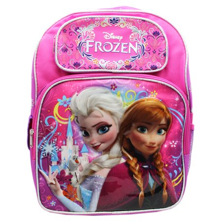 Full Size Pink and Purple Frozen Anna and Elsa Kids Backpack