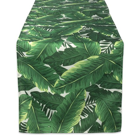 DII Banana Leaf Outdoor Table Runner, 72 x 14