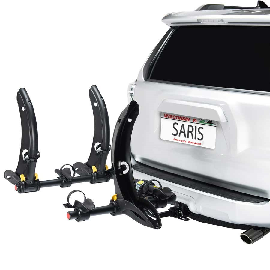 Saris, Thelma, Hitch mounted bike rack, Universal mount, 3 bikes, Black