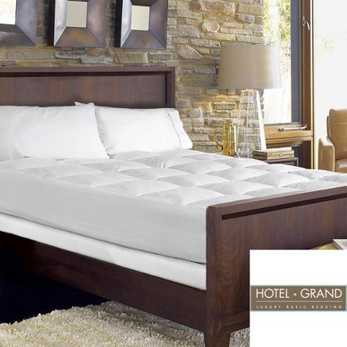 Hotel Grand Waterproof Extra Loft Mattress Pad with Skirt Cal King