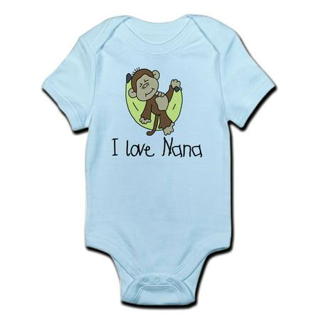 27415293e CafePress - I Love Nana Infant Bodysuit - Baby Light Bodysuit ...