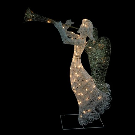 Northlight 48 in. Glittered Trumpeting Angel Christmas Light Display