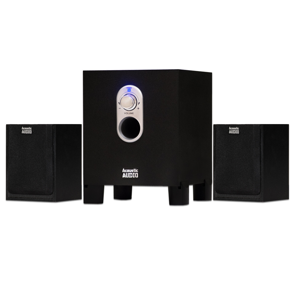 Acoustic Audio AA2101 Home 2.1 Speaker System for Multimedia Computer Gaming by Acoustic Audio by Goldwood