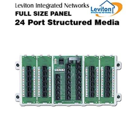 Structured Media Panel (Leviton 47603-24P Full Pre-Configured Cabling Panel 24-Port Structured)