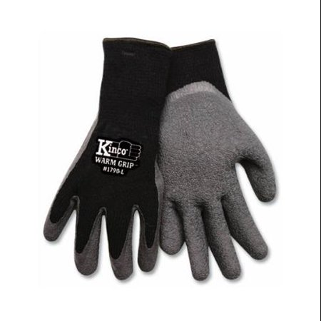 (Warm Grip 1790 Protective Gloves, Men's, X-Large, Acrylic Knit Shell, Black, Thermal Lining)