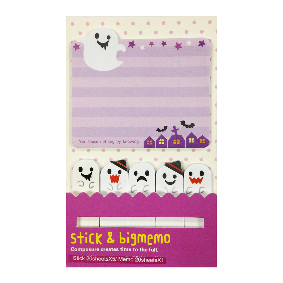 Wrapables® Bookmark and Memo Sticky Notes, Halloween Ghoulies
