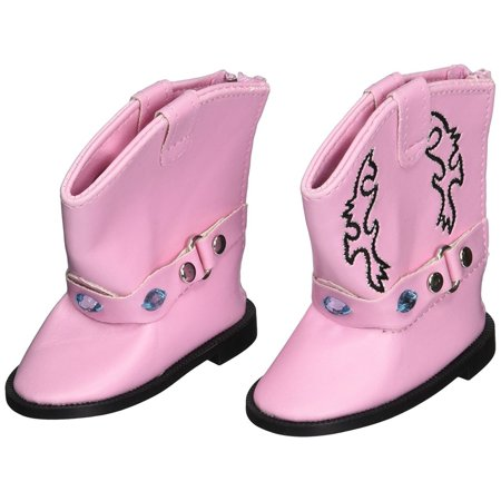 My Brittany's Pink Gem Boots For American Girl Dolls, My Life as Dolls, Our Generations Dolls, 18 Inch Doll Boots (Snake Boots 18 Inch)