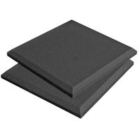 "Auralex Acoustics - SonoFlat Panels, Set of 16, Charcoal - 12"" x 12"" x 2"""