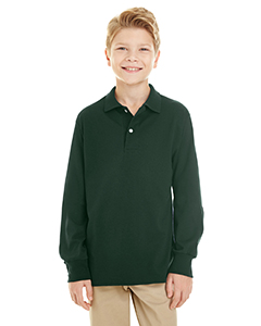 Jerzees Youth 5.6 oz. SpotShield™ Long-Sleeve Jersey Polo