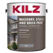 KILZ Interior/Exterior Masonry, Stucco & Brick Flat Paint, 1 Gallon