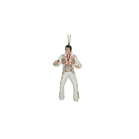 Resin Elvis in Inca Jumpsuit Christmas Ornament