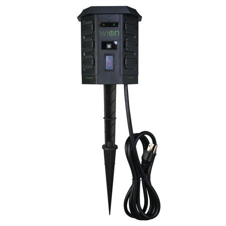 WiOn 50056 Smart Yard Stake, No Hub Required