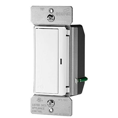 Cooper RF9501DW Light Switch, Aspire RF 4-Way 15A 120V Deco Rocker - White Cooper Aspire Dimmers