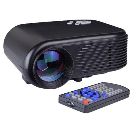 FB3502 180 Lumens 640x480 Mini LED Digital Projector w/ HDMI, VGA & AV - Black