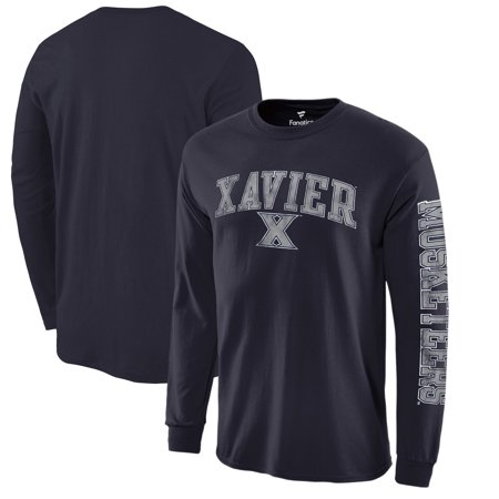 Xavier Musketeers Fanatics Branded Distressed Arch Over Logo Long Sleeve T-Shirt - Navy