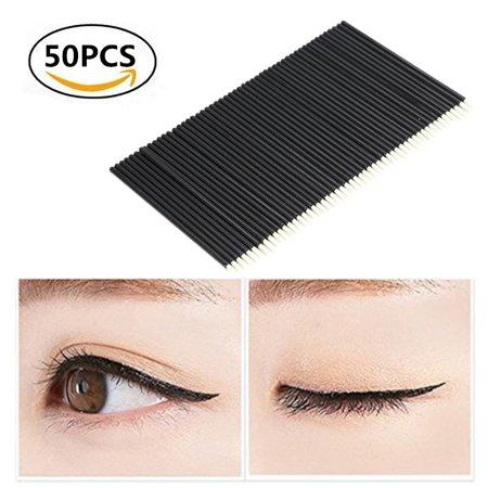 Yosoo 50PCS/Set Disposable Eyeliner Brush Eyeshadow Applicator lip Brush Eyes Makeup Cosmetic Tool, Eye Makeup Tool