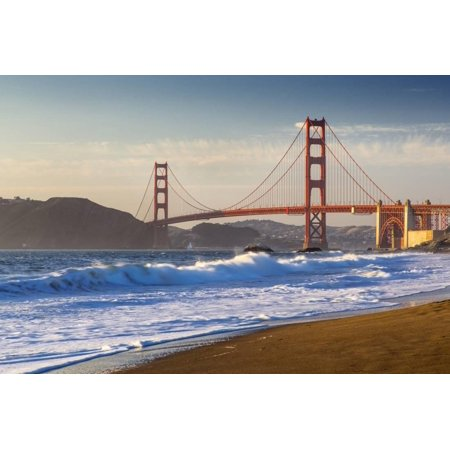 The Golden Gate Bridge From Baker Beach San Francisco California Print Wall Art By