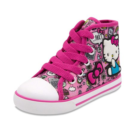 HELLO KITTY LIL AVERY LACE UP FASHION SNEAKERS W/ EMBROIDERED