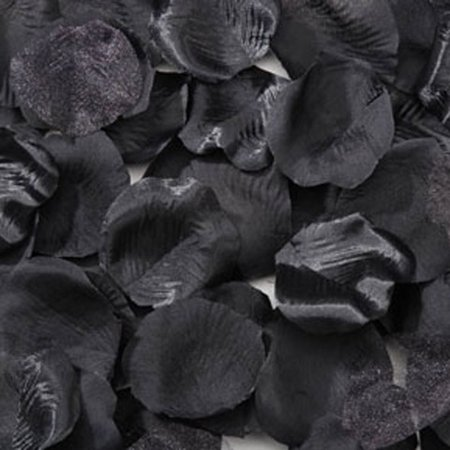 Victoria Lynn Black Satin Rose Petals: 100 pack