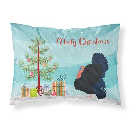 Carolines Treasures BB9352PILLOWCASE Norfolk Black Turkey Christmas Fabric Standard Pillowcase - image 1 of 1