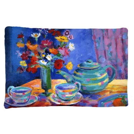 Blue Tea by Wendy Hoile Fabric Standard Pillowcase - image 1 de 1
