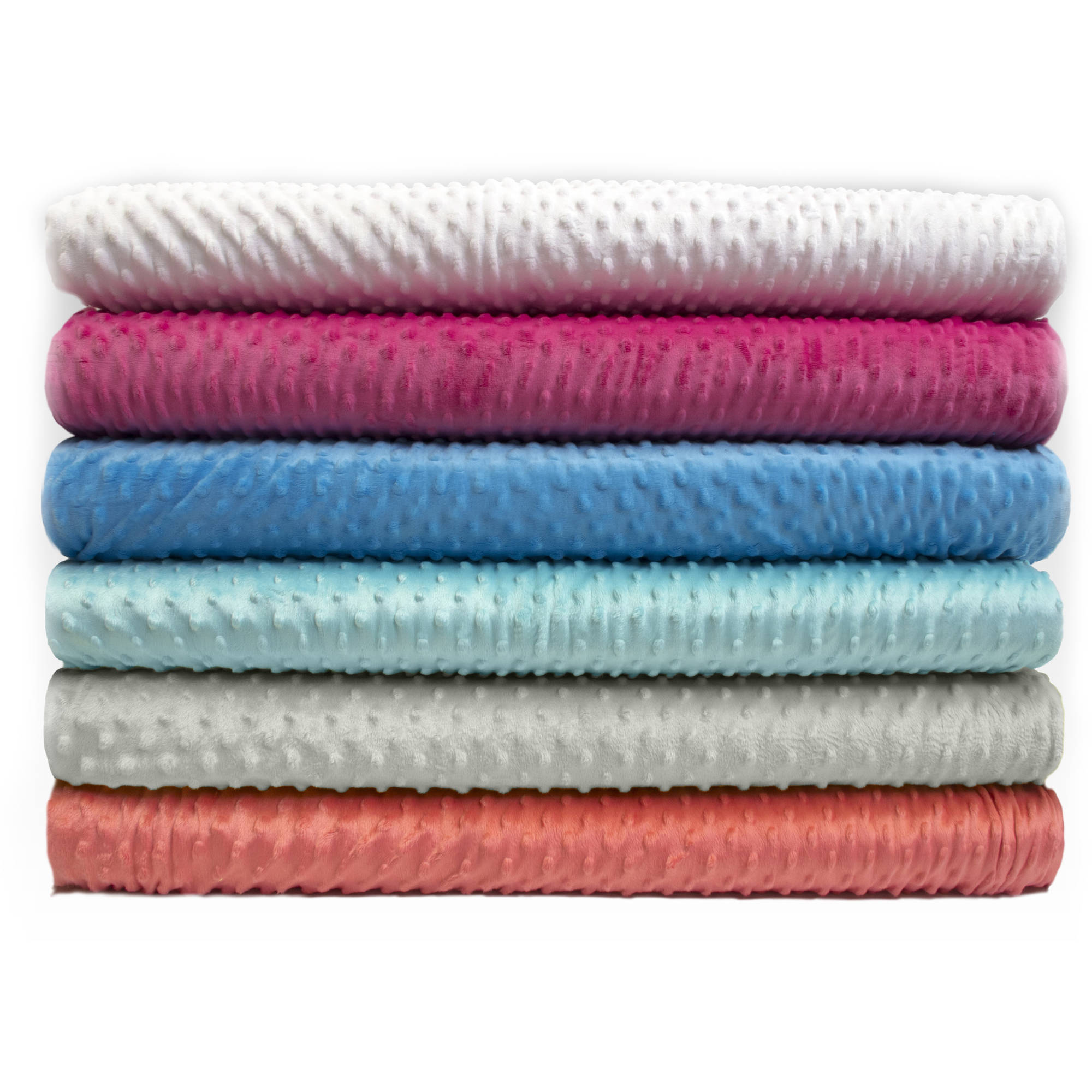 "Silky Soft ""Plush Dot"" Polyester Plush Fleece Fabric by the Yard, 60"""