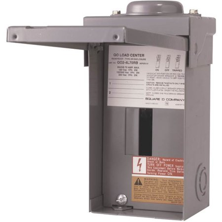 Square D 70 Amp Manual Transfer Switch with Main Lug Load (Square D 100 Amp Outdoor Load Center)