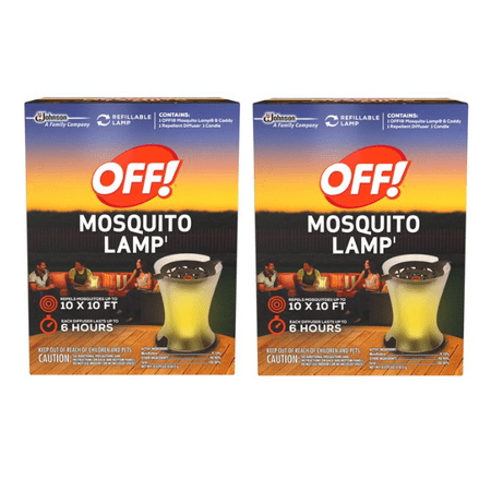 2 Two Lamp ((2 pack) OFF! Mosquito Lamp Starter)