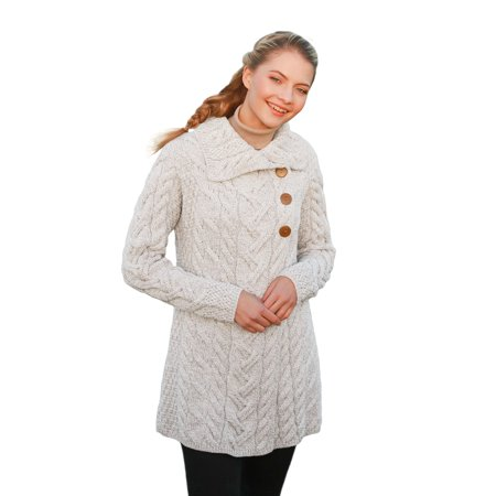 (3 Buttoned SuperSoft Merino Wool Long Cardigan)