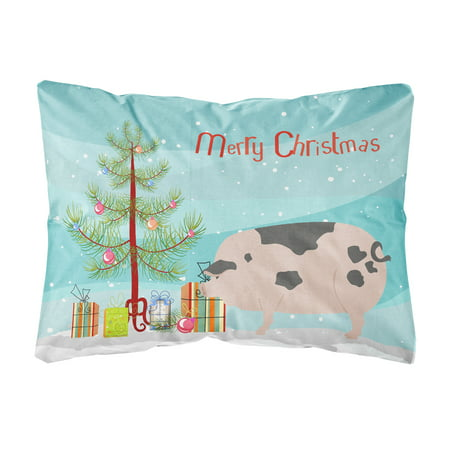 Gloucester Old Spot Pig Christmas Canvas Fabric Decorative Pillow