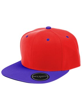 ce23cb0a Product Image Plain Adjustable Snapback Hats Caps (Many Colors) Red | Blue  One Size