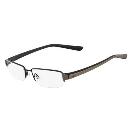 NIKE Eyeglasses 8064 002 Matte Black-Anthracite Rectangle Men's 52x16X145
