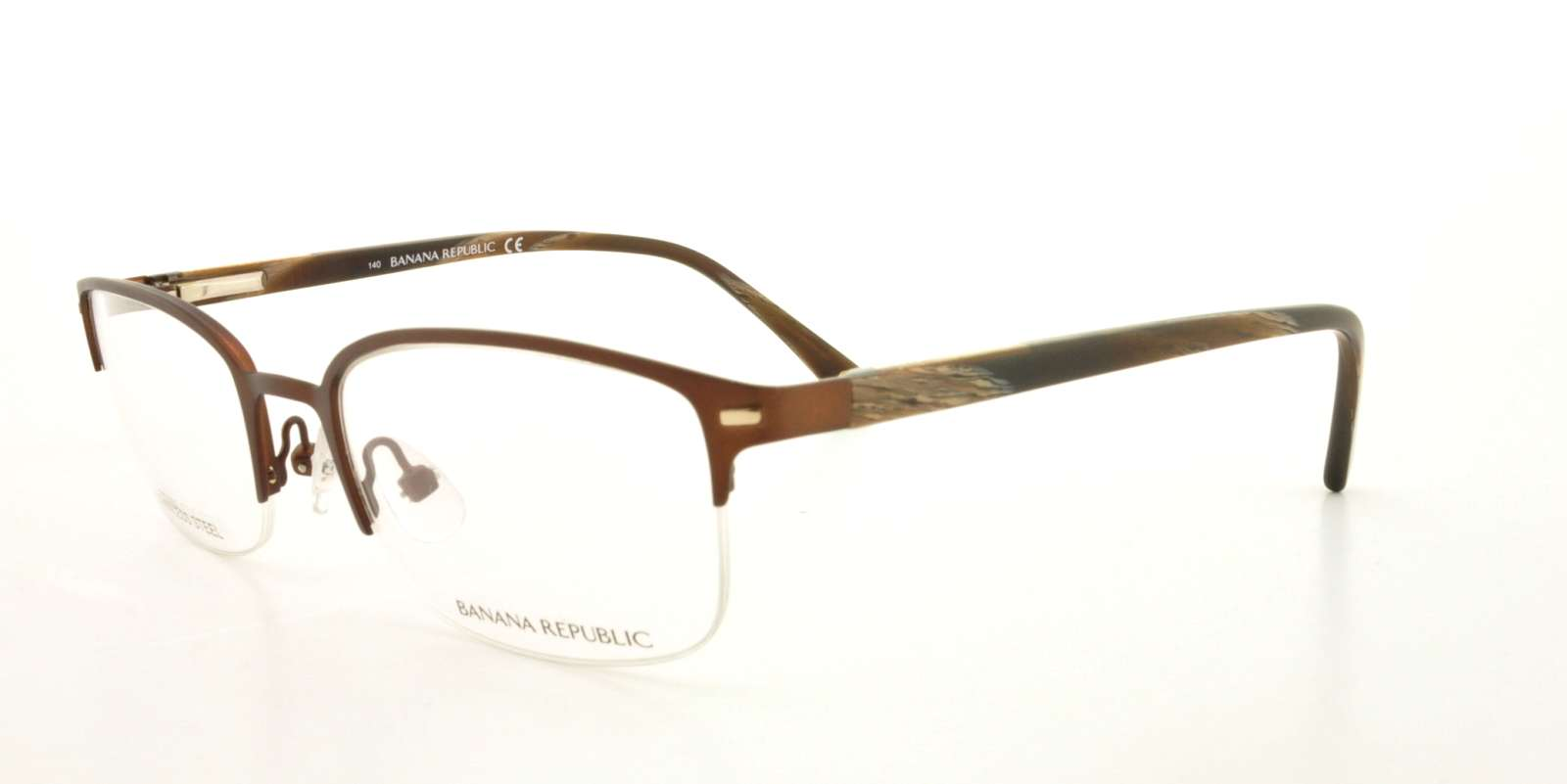 BANANA REPUBLIC Eyeglasses GARRICK 0JYS Matte Brown 49MM - Walmart.com