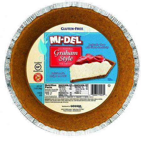 (2 Pack) Mi-Del Gluten Free Pie Crust, Graham Style, 7.1 Oz