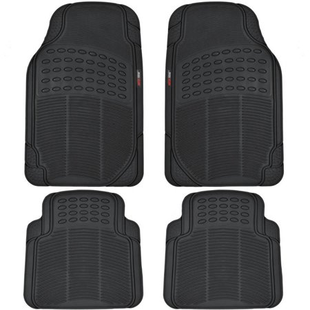 Envoy Custom Floor Mats Rear - MotorTrend 4-Piece Heavy-Duty Rubber Floor Mats, Odorless, All Weather Protection, Semi Custom Fit