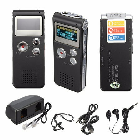 Digital Voice Activated Recorder - Easy HD Recording Of Lectures And Meetings With Double Microphone, Noise Reduction Audio, High Quality Sound, Portable Mini Tape Dictaphone, (Best Portable Field Recorder)